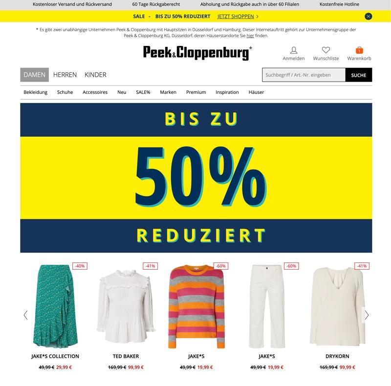 f5af2a08e183 Peek und Cloppenburg* Gutschein August 2019: 10% Rabatt